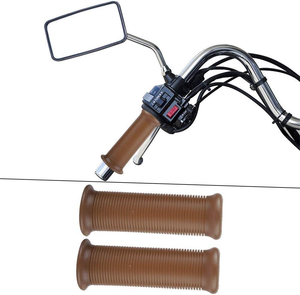 Kimiss Pair of 7//8 Inch 22 mm Universal Motorcycle Handlebar Grip TPU Handlebar End Jet Thrower Grip