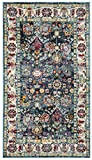 Safavieh SVH680B-3 Savannah Collection Navy and Blue Polyester Area Rug, 3′ x 5 Review