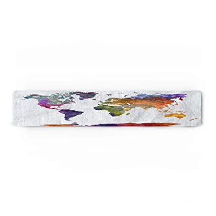 World Map Party Supplies.Amazon Com Prime Leader Watercolor World Map Cotton Linen Table