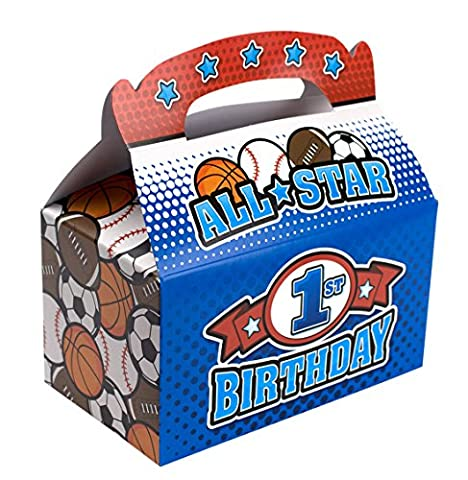 Treat Boxes Bundle Includes (12 Pack) Plus Non-Negotiable Million Dollar Bill by Imprints Plus (All Star 1st - Folding Candy Pail