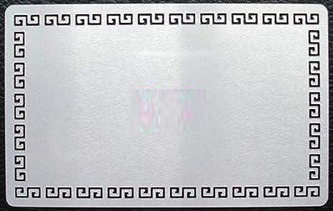 Amazon.com: Metal patrón borde tarjeta de negocios gris ...