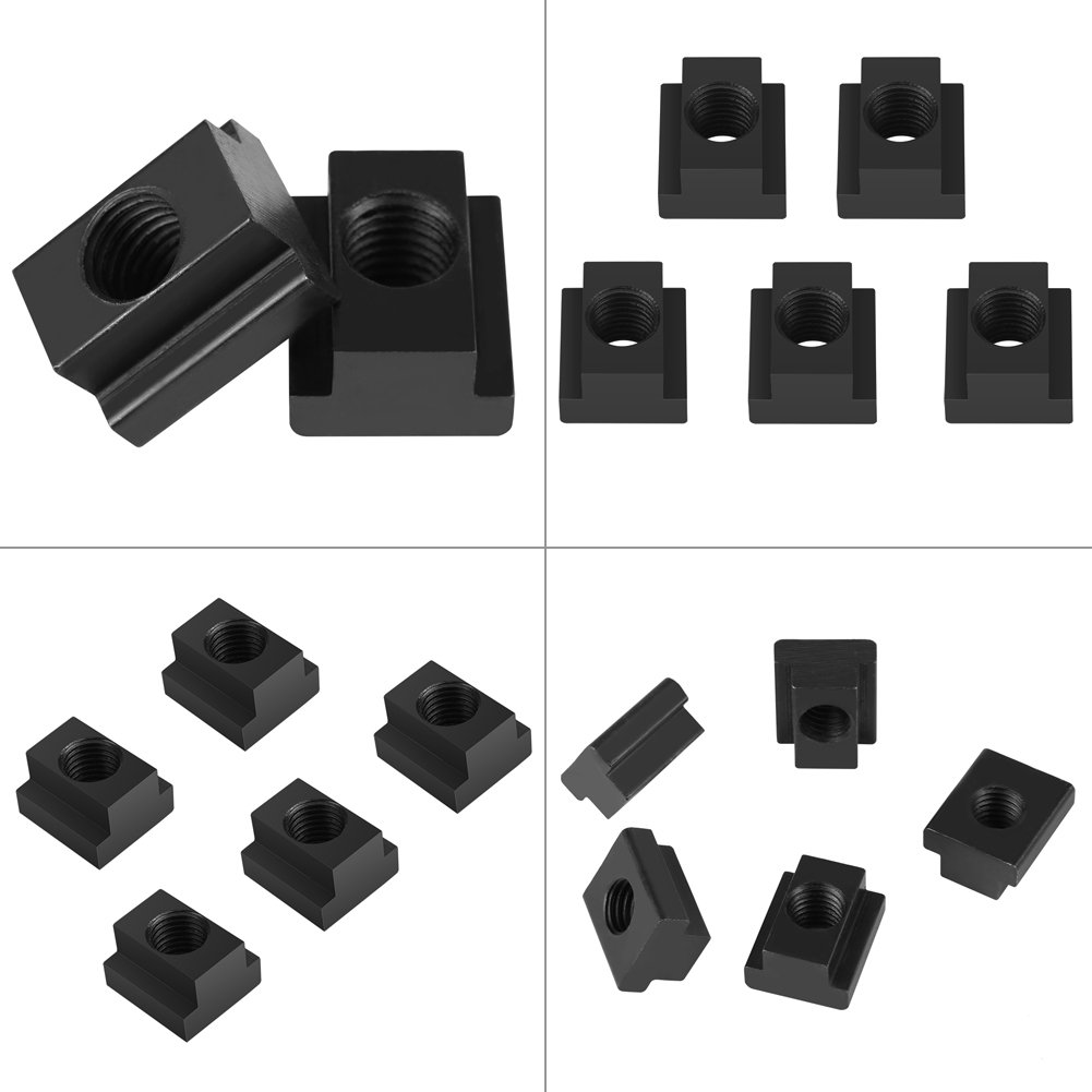 Clamping Table Slot Nut 5 pcs Black Oxide Finish T Slot Nuts M14 Threads Fit Into T-Slots in Machine Tool Tables Embedded Nuts Clamping Table Slot Nut