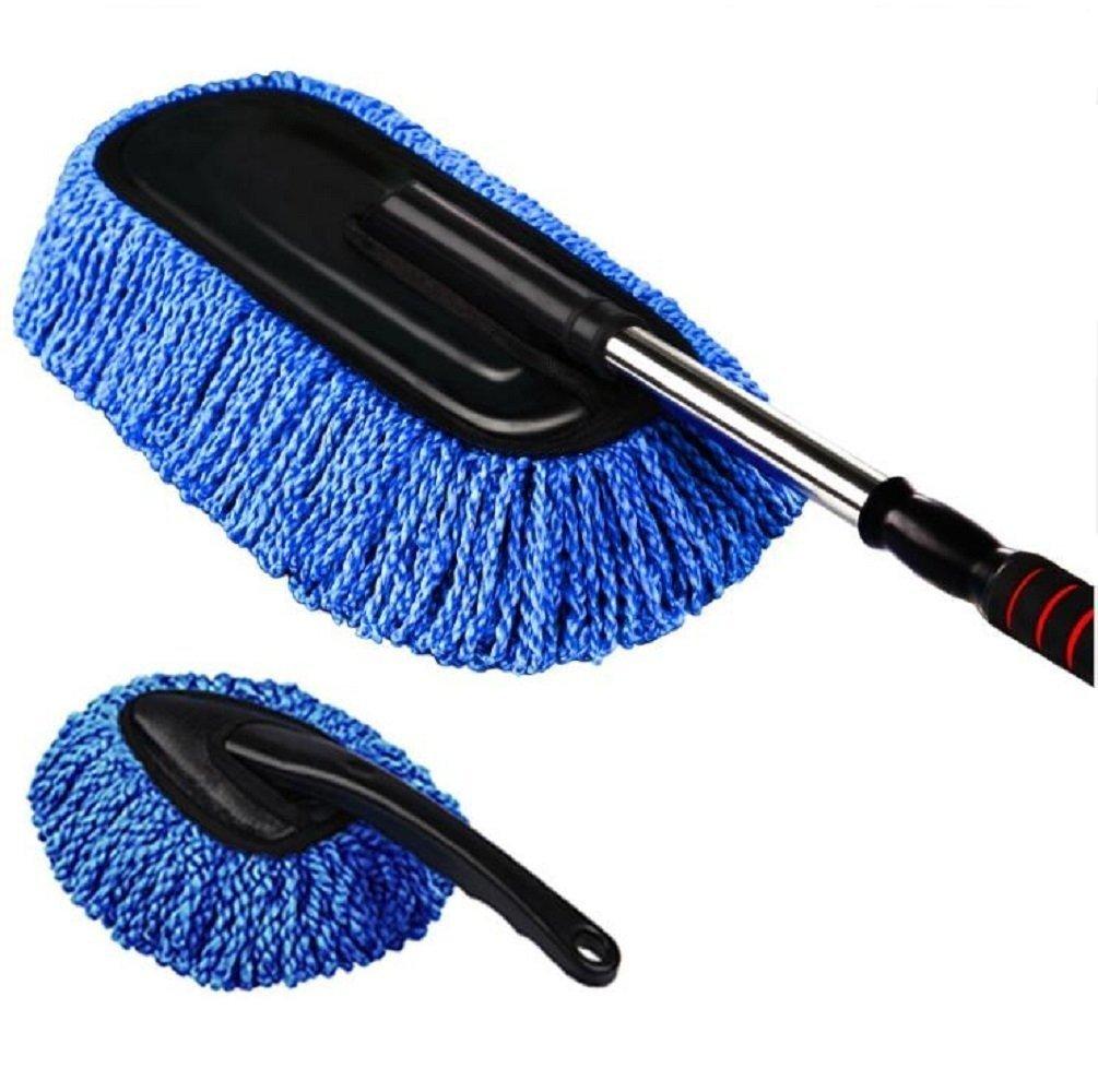 Sunmoch brosse rétractable lavage des voitures microfibre Chiffon à poussière nettoyage de poussière Brosse Nettoyage voiture serpillère brosse à épousseter nettoyage extérieur Cire Lot de brosses (Lo