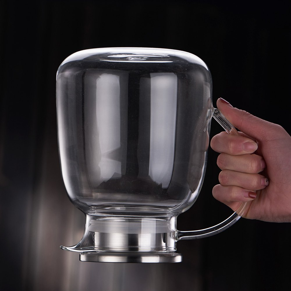 WarmCrystal, Large Glass Cold Teakettle, Pitcher and Carafe for Tea, Coffee, Lemonade and Ice Teapot (64 oz) by WarmCrystal (Image #7)