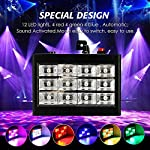 Strobe Lights, SOLMORE 12 LED RGB Flash Lights Stage Lights Disco DJ Light Sound Activated Background Stage Lighting for Wedding KTV Party Show Club Pub Bar Parties Live Concert Decoration 15W by SOLMORE