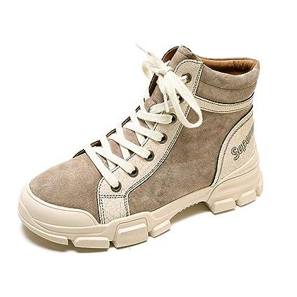 b7ec1e9974cd5 KPHY Zapatos de Mujer Martin Botas British Wind Estudiantes Botas Primavera  Y Otoño Zapatos Altos