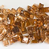 My Fireplace Glass - 50 Pound Terrazzo Chip Fireplace Glass - Size 2, 1/4 - 3/8 Inch, Copper Reflective