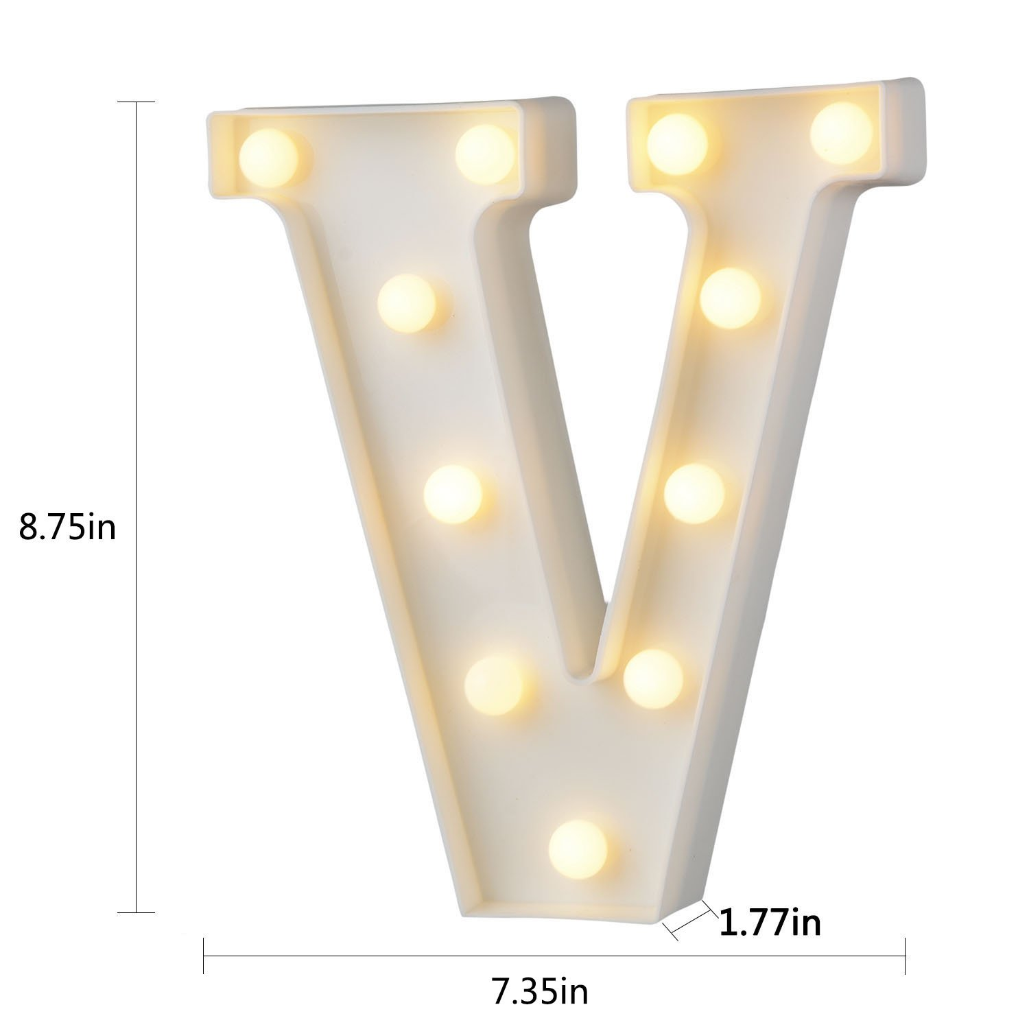 Led Letters Lights Alphabet Marquee Decoration Light Up Sign Battery Operated for Party Wedding Receptions Holiday Home /& Bath Bridal Bar Decor W