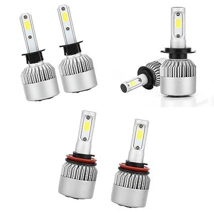 Gazechimp 6 Piezas LED Faros Bombillas 6000K Kit de Conversión H11 ...