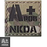 ir blood type - Multicam Infrared IR APOS NKDA A+ Blood Type 2x2 Laser Reflective Tactical Morale Hook&Loop Patch