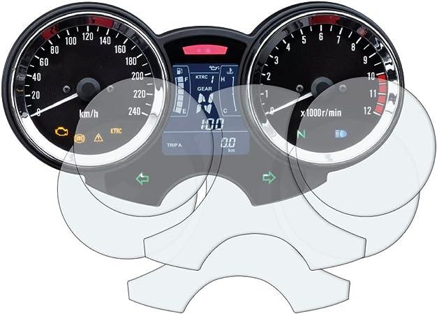 Kawasaki Z900rs 2017 Displayschutzfolie Tachoschutzfolie 1 X Ultra Klar 1 X Entspiegelt Auto
