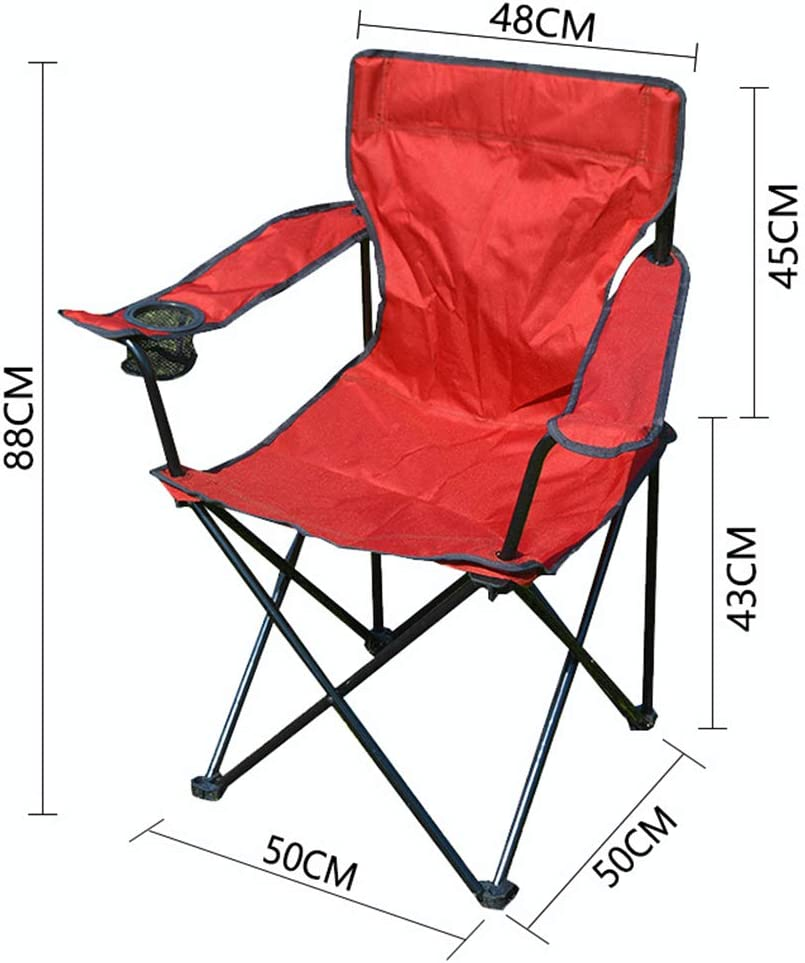 XRQ Low Beach Camping Klappstuhl, Ultralight Backpacking Stuhl mit Becherhalter & Carry Bag Kompakt & Heavy Duty Outdoor, Camping, Grill, Strand, Reise, Picknick Red