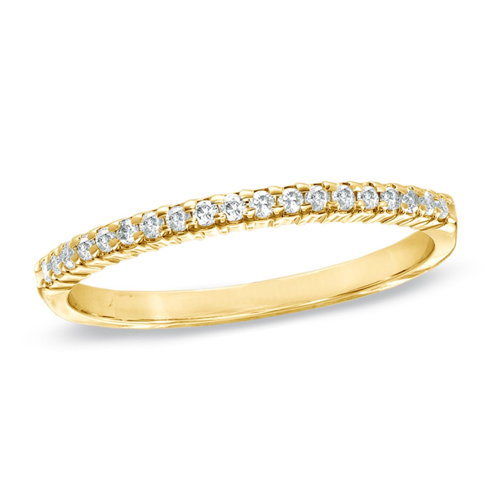 0.85 ct Brilliant Round Cut Wedding Promise Bridal Engagement Band In Solid 14K Yellow Gold , Size 7.5