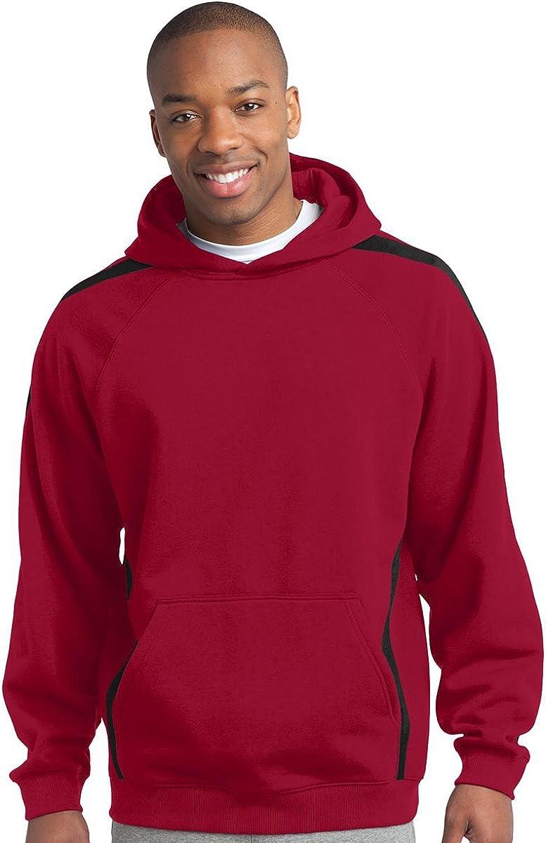 Sport-Tek Mens Big And Tall Hooded Sweatshirt/_Tr Red//Black/_3XL Tall
