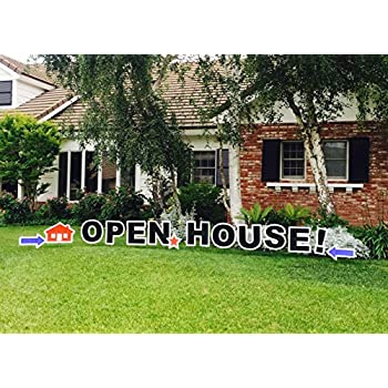 outdoor yard sign announcement individual letters measure 18 inches in height and come with easy to install stakes perfect for selling your home