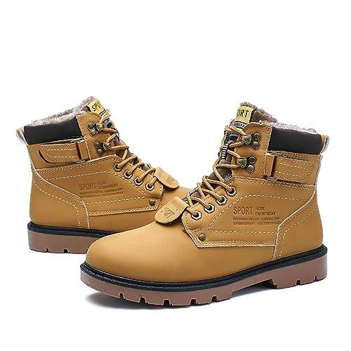 6748d75e7 gracosy Hombre Botas de Senderismo Invierno Cálido 2019 Impermeables  Antideslizante Ocio al Aire Libre Zapatos de Deporte Zapatillas de  Senderismo Cordones ...