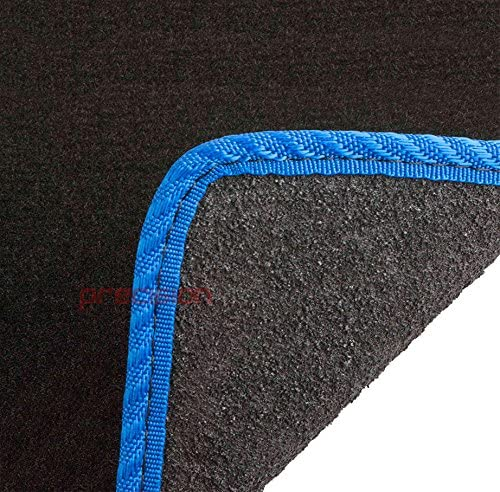 Precision Tailor Fitted Black Classic Car Mats with Blue Solid for ƁMW 4 Series Coupe F32 2013-2018 PN.SFP-SSQ278BLP