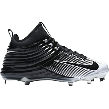 sports shoes bf682 0592e Nike Lunar Trout 2 Men Mike Baseball Cleats Black White-8