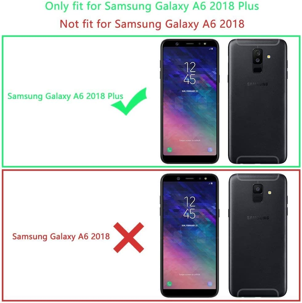 Coovertify Funda Purpurina Brillante Plateada Samsung A6 Plus ...