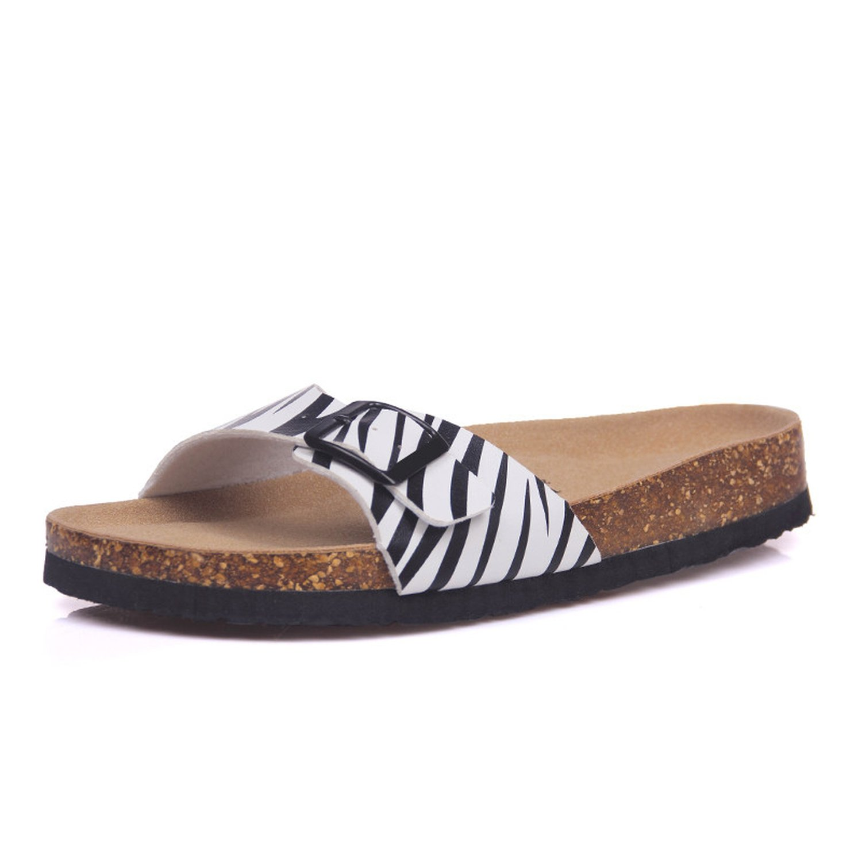 Magic-MC 2018 New Fashion Summer Cork Slipper Sandals Women Casual Beach Mixed Color Flip Flops Slides Shoe Flat with Plus Size,11,10