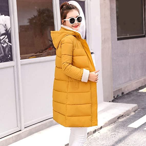 Amazon.com: Dainzuy Ladies Sexy Casual Coat,Women Hooded Thick Slim Jacket Long Overcoat: Kitchen & Dining