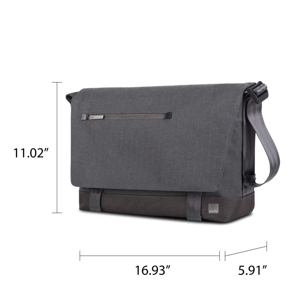 Moshi Aerio Messenger Bag (Fits up to 15'' MacBook, Chromebook, Laptop) - Charcoal Black