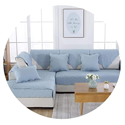 Amazon.com: Double Faced Blue Camel Floral Quilted Sofa ...