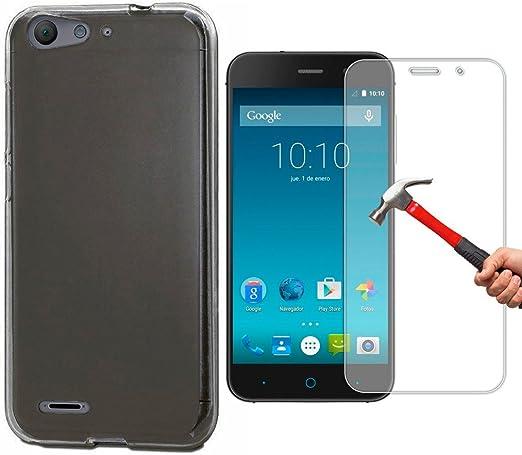 OVIphone Funda Gel TPU Para ZTE BLADE V6 / D6 + Cristal Templado ...