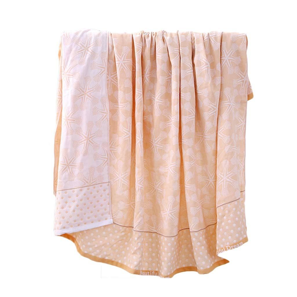 毛布タオルは二層複合ジャカード毛布昼寝シングル夏クールタオル毛布です ZHAOSHUNLI (色 : 黄, サイズ さいず : 200センチメートル*230センチメートル) B07RJJHX2H 黄 200センチメートル*230センチメートル