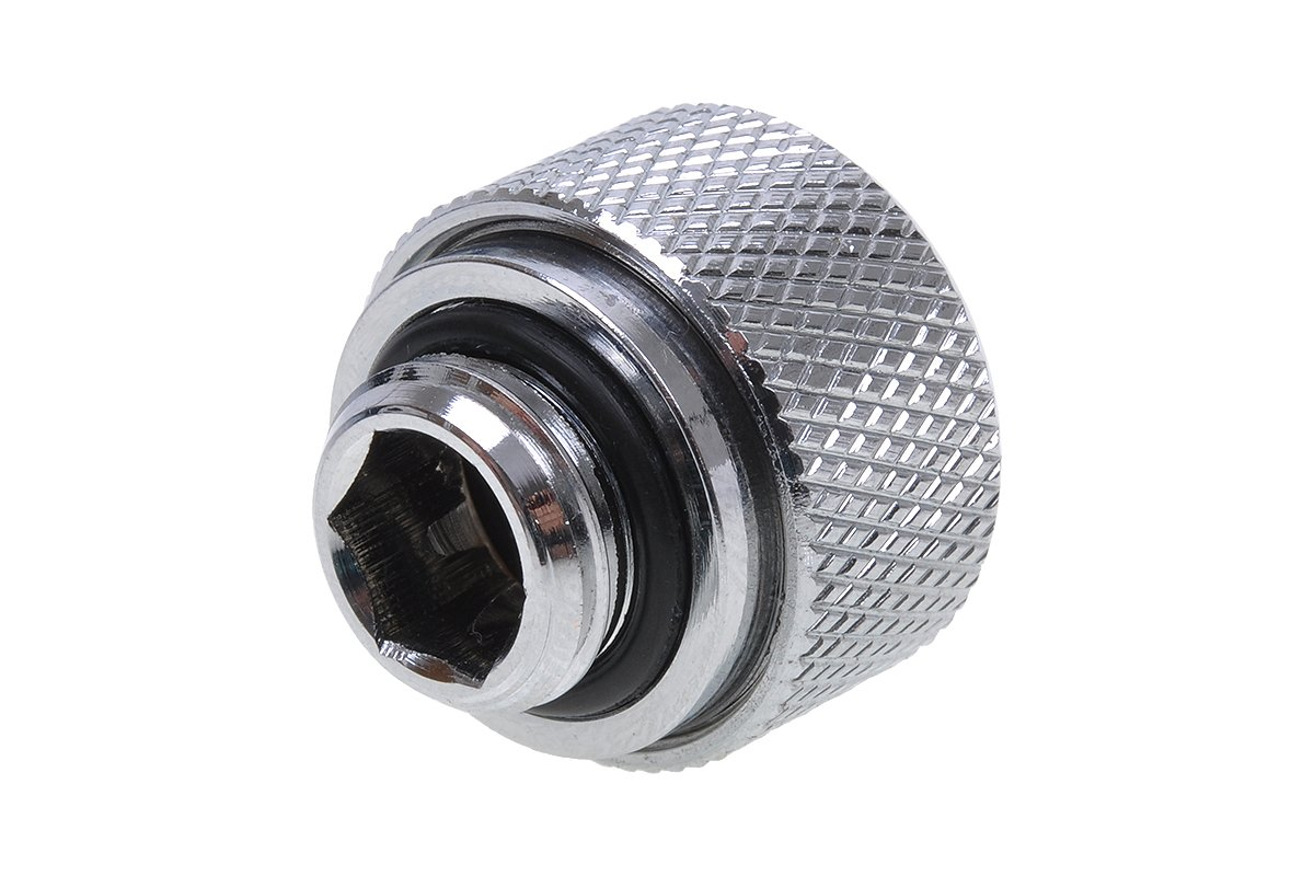 tuyaus en Laiton Chrome Refroidissement par Eau Raccords Alphacool 17188 HT 13mm durtuyau raccord /à Compression G1//4 pour Plexi broy/é