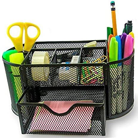 Summer Office Supply Caddy   Can Hold ALL Office Accessories. Features:  Elegant 8 Compartments