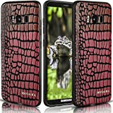 Galaxy S8 Case,MKOAWA Samsung Galaxy S8 Case (5.8 inch) with Resilient Shock Absorption and Carbon Fiber Crocodile pattern Design for Samsung Galaxy S8 (2017) (Pink)