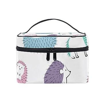 c64b53ee3252 Amazon.com : Pastel Hedgehogs Cosmetic Bags Organizer- Travel ...