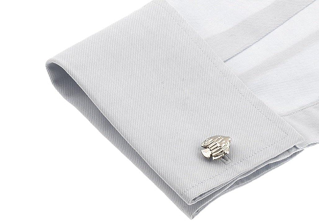 MRCUFF Fish Cufflinks with a Presentation Gift Box /& Polishing Cloth