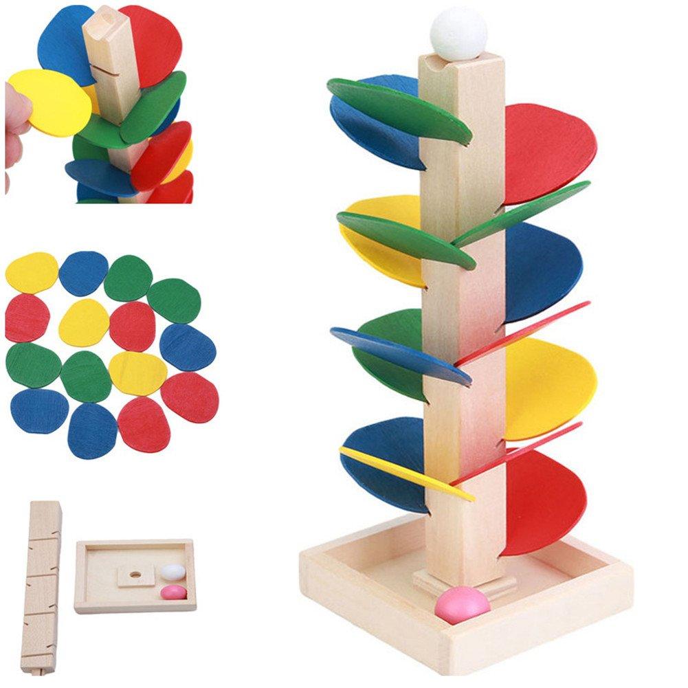 ODN Kinder DIY Holz Regenbogen Farbigen Rollenrad Spielzeug, Familie Spielzeug, Kinder IQ Entwicklung Baustein Spielzeug