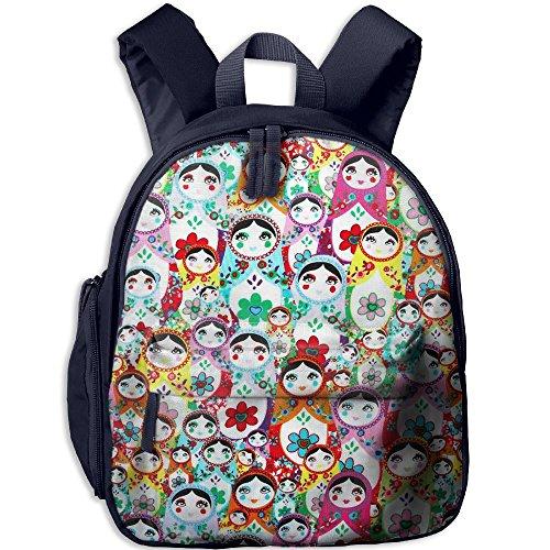 Boys Girls Russian Dolls Popular Printing Toddler Pre School Backpack Bags Lightweight (Radica Cube)