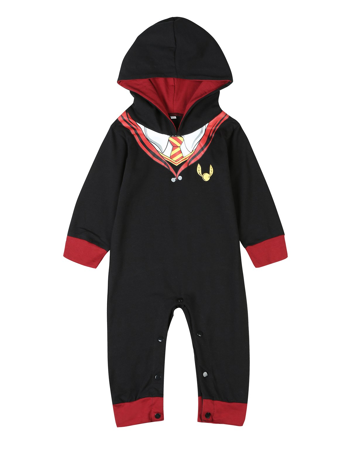3Pcs Outfit Set Baby Boy Girl Infant Snuggle this Muggle Rompers (3-6 Months, Black)