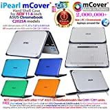 mCover iPearl Hard Shell Case for 11.6 ASUS Chromebook C202SA Series Laptop - Blue