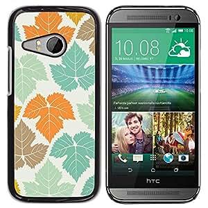 Be Good Phone Accessory // Dura Cáscara cubierta Protectora Caso Carcasa Funda de Protección para HTC ONE MINI 2 / M8 MINI // Pastel Teal Orange Maple Canada