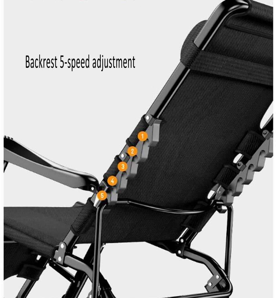 Knästolar som ligger på viloläge hopfällbar säng, kontor lunchpaus stol, massagearmstöd, justerbar stol, bärbar utomhusterrass vilstol (178 × 65 × 28 × cm) xiuyun Svart Röd