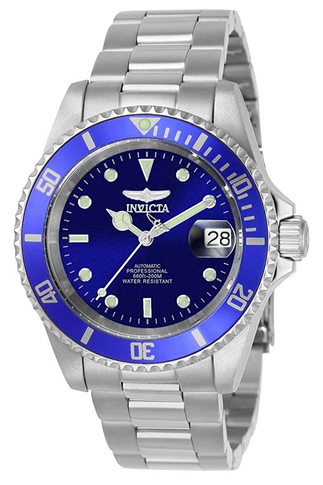 BraceletSilverblue Link Invicta Steel Pro Diver Watch With Stainless 9094ob Men's Collection F3JlTK1c
