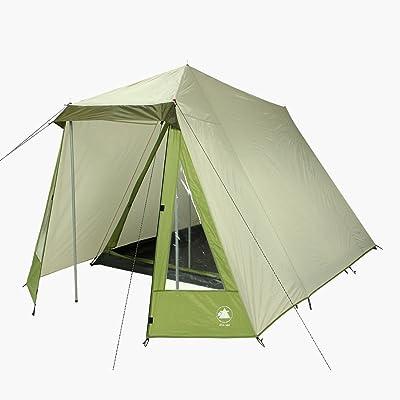 10T Outdoor Equipment 10T équipement d'extérieur étanche Kuranda Unisexe extérieur Cadre Tente Disponible en gris–3personnes
