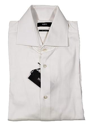 7b578b7f5 Amazon.com: Hugo Boss Black Label Men's White Gerald 50284853 Size 15  Regular: Clothing