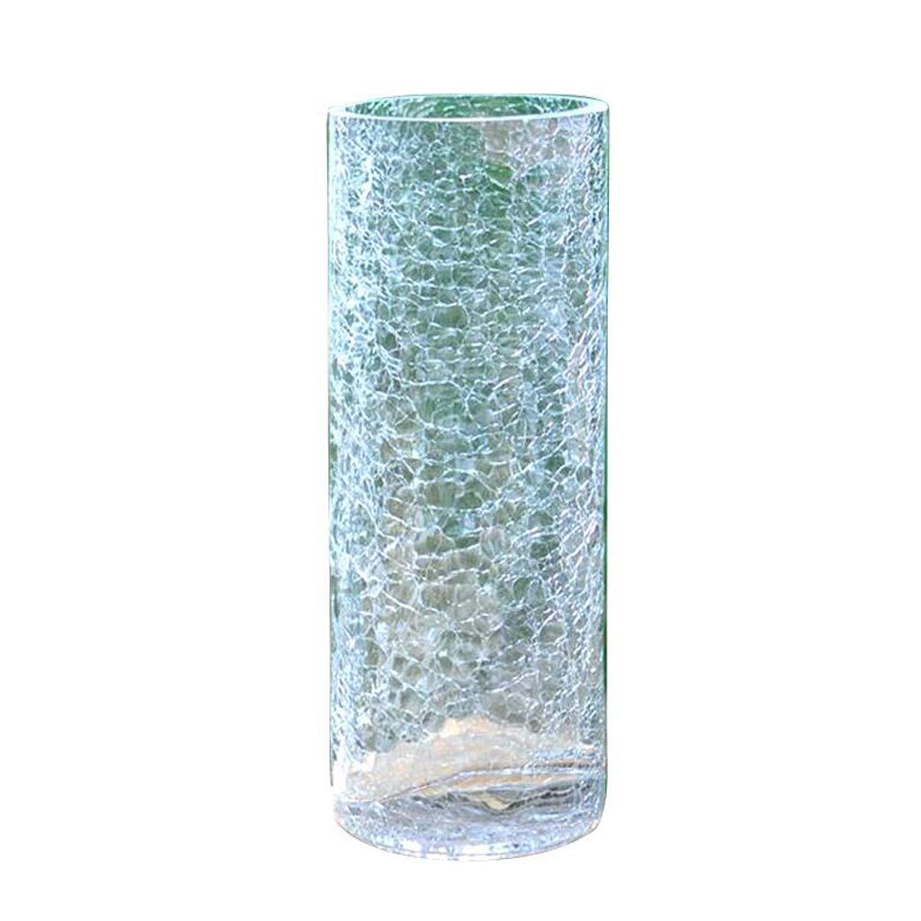il prezzo più basso GAODUZI Broken Ice Vaso di di di Vetro Trasparente Lily Flowers Vaso di bambù Water Pei Hua Fiore Creativo Ice Cracker Vaso (Dimensioni   20  10cm)  più ordine