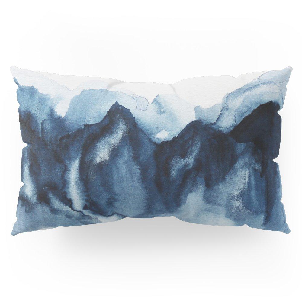 Society6 Abstract Indigo Mountains Pillow Sham King (20'' x 36'') Set of 2