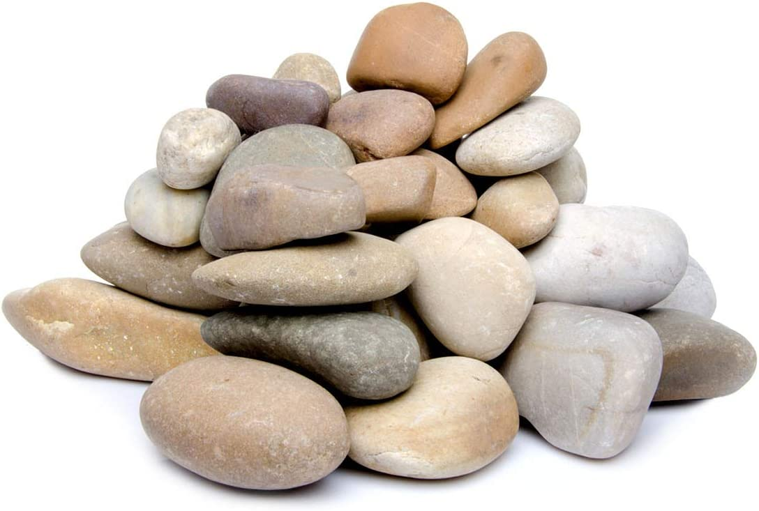 Landscaping,2-lb Fresh Water Fish Animal Plant Aquariums Mixed Color Stones for Outdoor Decorative 1-2 Size Manual selection Decorative Ornamental River Pebbles Rocks Nature Polished Gravel