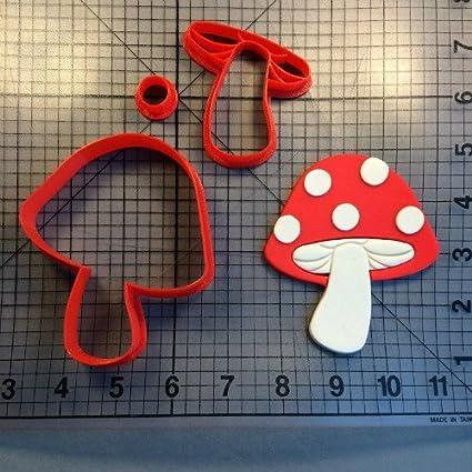 Buy Pinkdose® Mushroom 5 Inch: Mushroom Series Fondant Cupcake Top