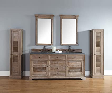 Etonnant 72 In. Double Vanity Cabinet In Driftwood Finish