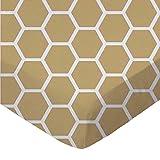 SheetWorld Fitted Cradle Sheet - Khaki Honeycomb