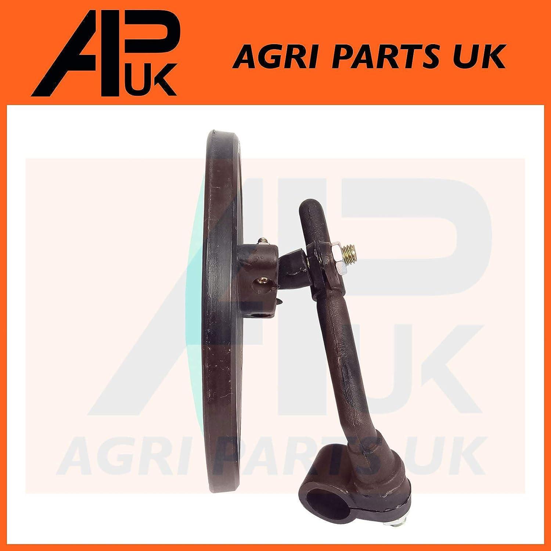 APUK 2 X Round 135mm Convex Curved Mirror Head Offset arm mount bike truck motorbike